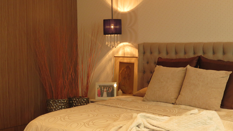 NIVEL TRES ARQUITECTURA Eclectic style bedroom