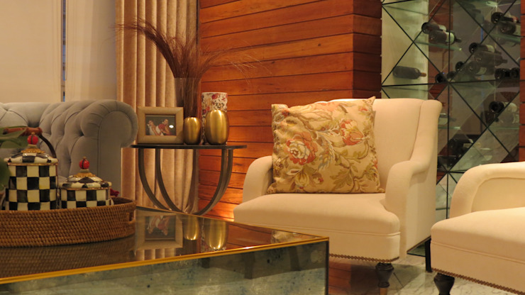 NIVEL TRES ARQUITECTURA Eclectic style living room