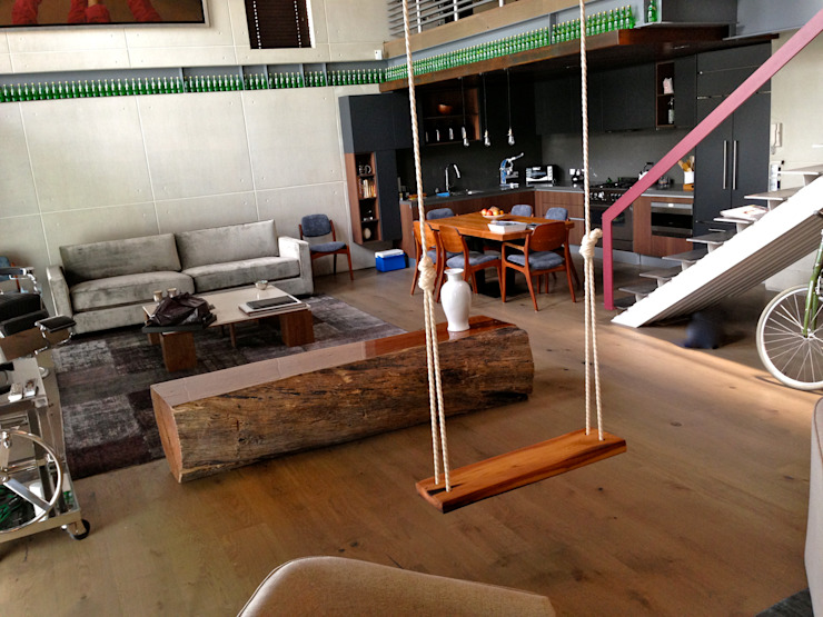 LOFT POLANCO: Casas de estilo  por anaranja sa de cv,