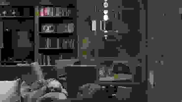 ESS 02 Salas multimedia rústicas de NIVEL TRES ARQUITECTURA Rústico