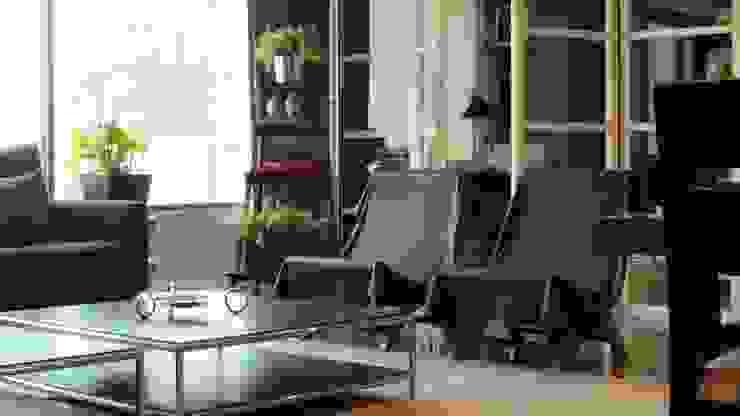 T801 14 Salones modernos de NIVEL TRES ARQUITECTURA Moderno