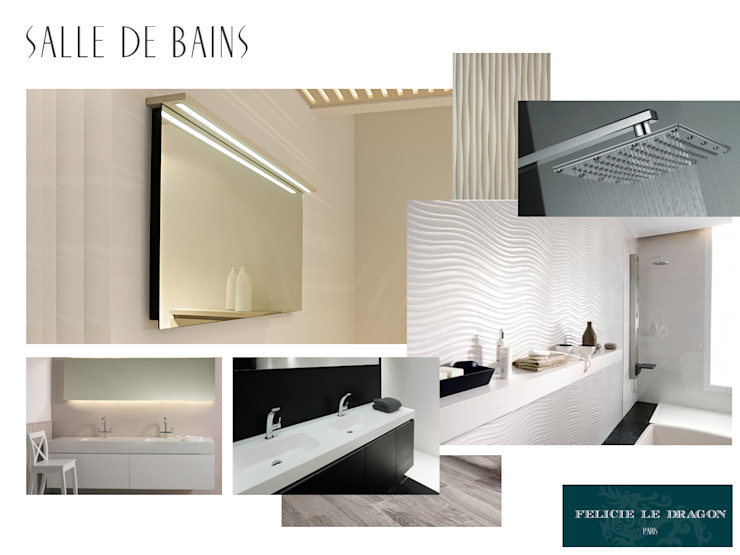 Luxury Bathroom Salle de bain moderne par Félicie le Dragon Moderne