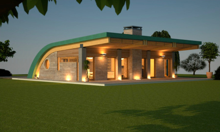 casa verde di alfredo anfossi architetto Moderno
