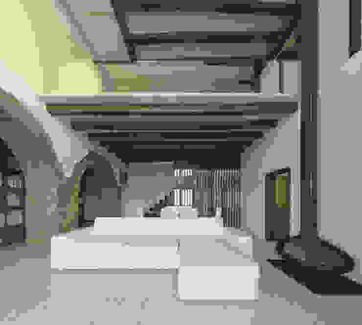 BASQUE VERNACULAR HOUSE REFURBISHEMNT de BAT - Bilbao Architecture Team Moderno