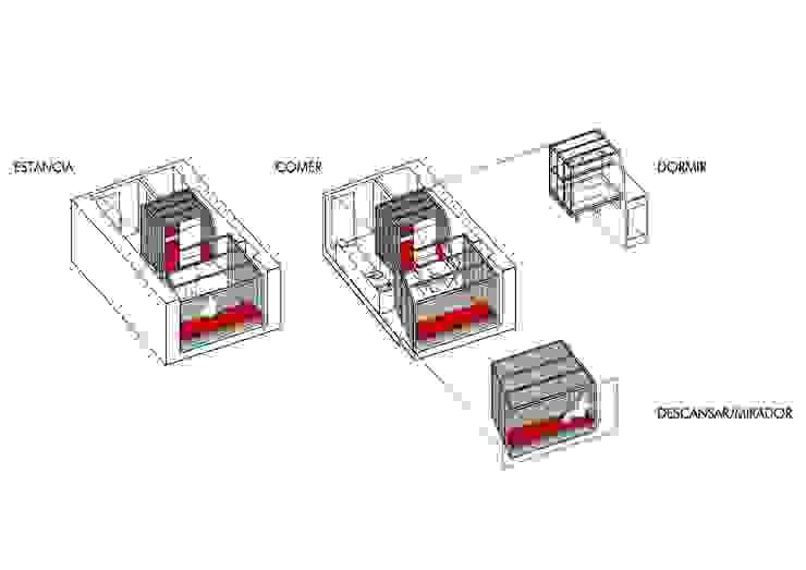 Casas minimalistas por Beriot, Bernardini arquitectos Minimalista