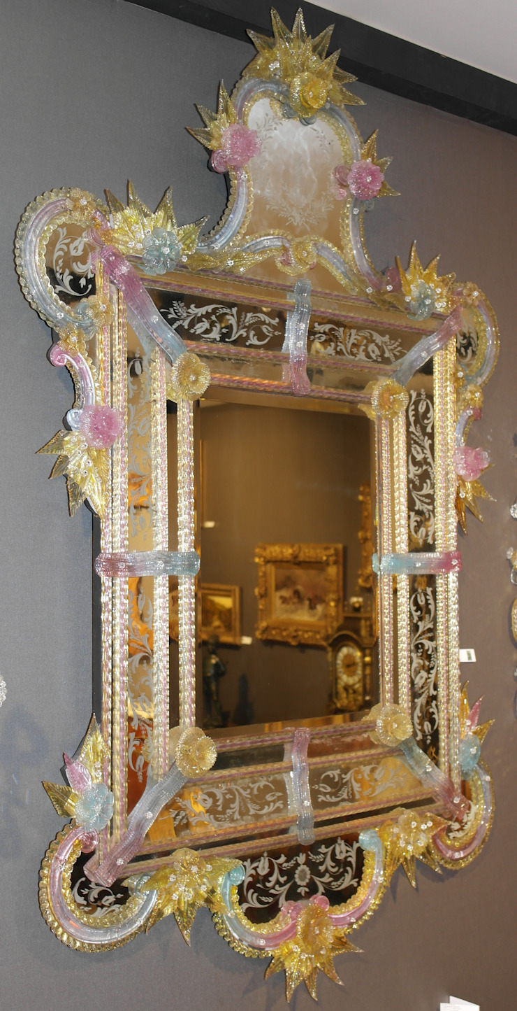 Miroir vénitien de Murano par Moinat SA Classique