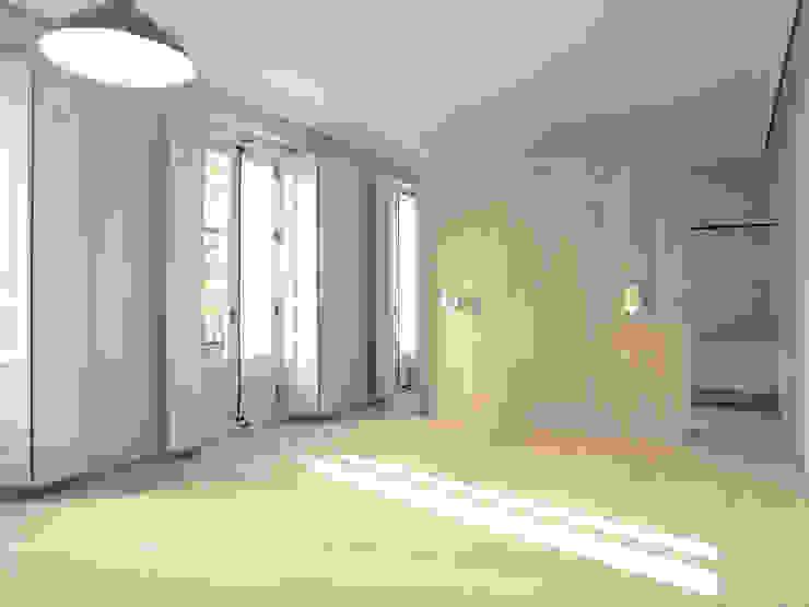 モダンスタイルの寝室 の Schneider Colao design モダン