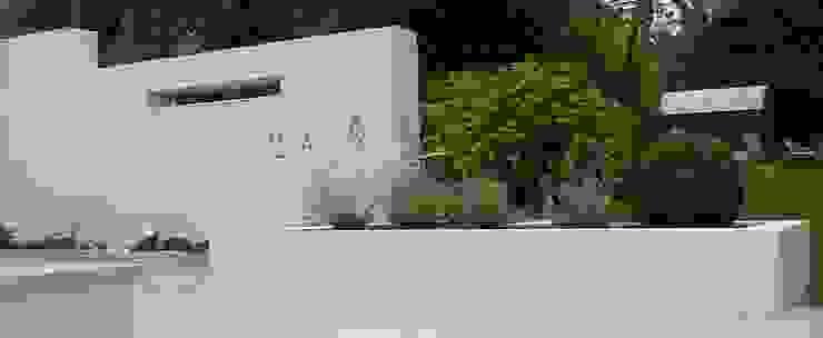 Raised bed and rendered wall. Modern garden by Gardenplan Design Modern