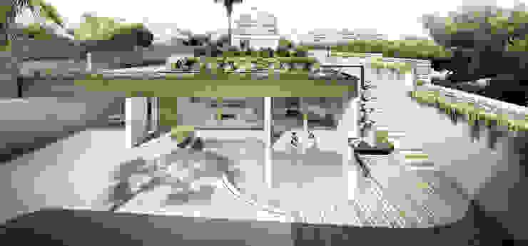 PABELLÓN AUXILIAR Y ACONDICIONAMIENTO DE JARDÍN Casas de estilo mediterráneo de Jofre Roca arquitectes Mediterráneo