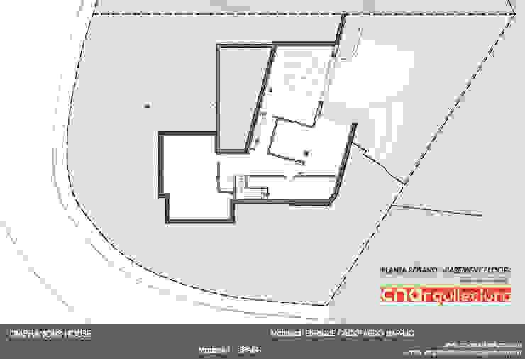 Diaphanous House -Planta Sótano- Casas de estilo minimalista de CN ARQUITECTURA Minimalista
