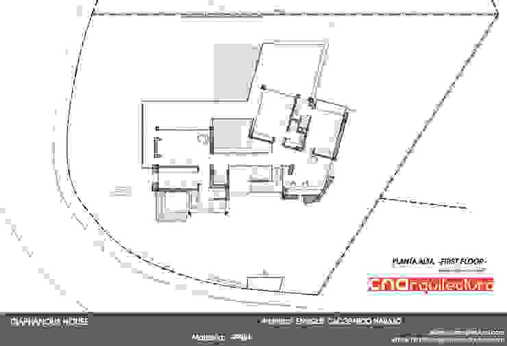 Diaphaouse House -Planta Alta- de CN ARQUITECTURA Minimalista