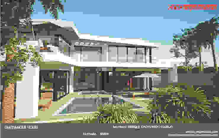Diaphaous House Casas de estilo minimalista de CN ARQUITECTURA Minimalista