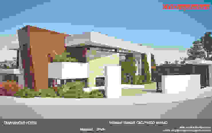 Diaphanous House Casas de estilo minimalista de CN ARQUITECTURA Minimalista