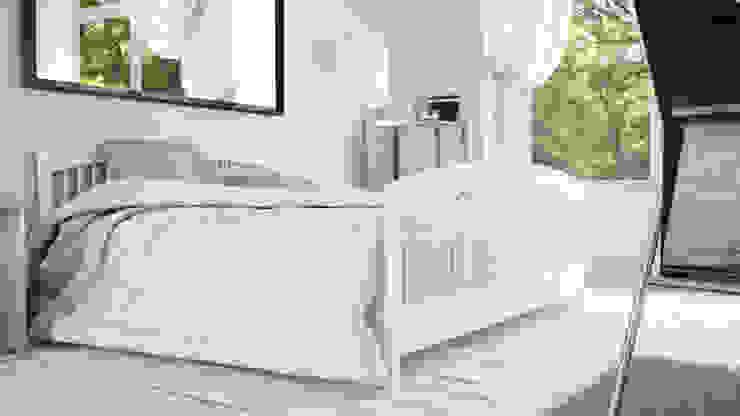 View_01_Bed Camera da letto minimalista di V Multimedia Minimalista