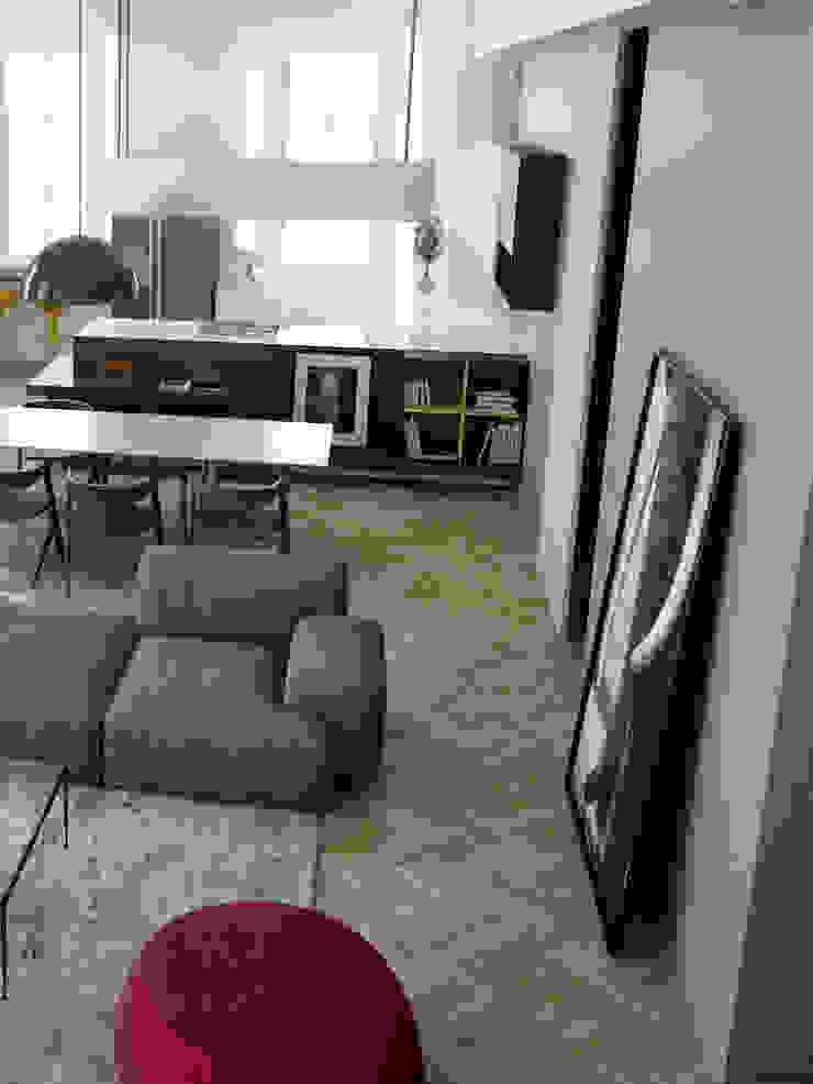 N-House: Zona Giorno_zoom Case in stile minimalista di RNDR Studio Minimalista