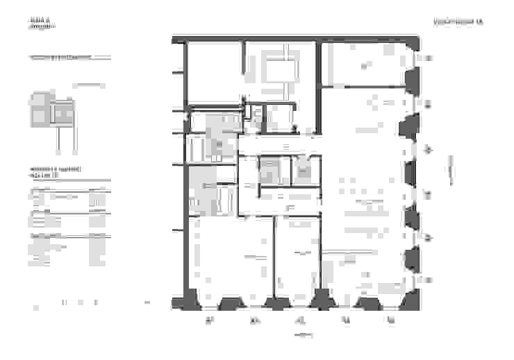 N-House: Planimetria Case in stile minimalista di RNDR Studio Minimalista