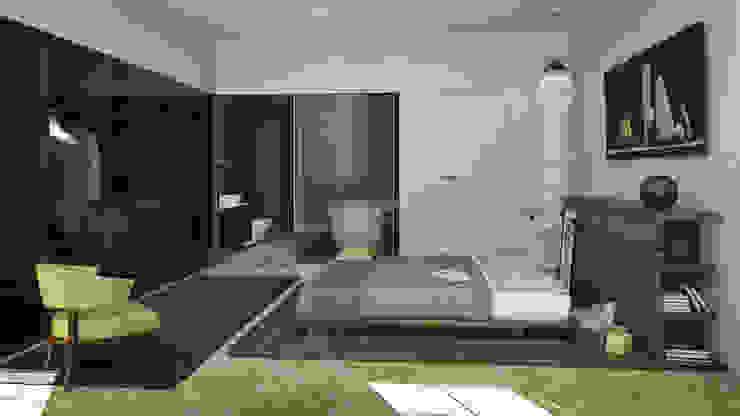N-House: Zona Notte Case in stile minimalista di RNDR Studio Minimalista