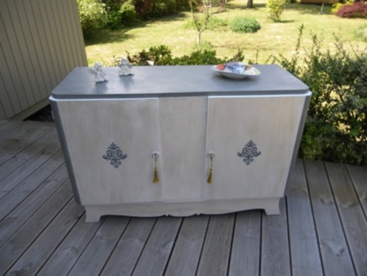Buffet Vintage Patiné par Meuble et Patine Création Industriel