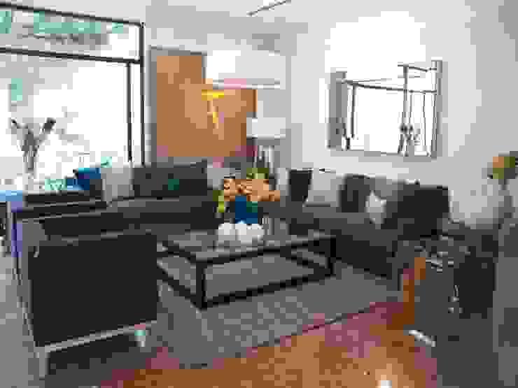 Residencia Guadalajara Salones de estilo moderno de AMATES Moderno