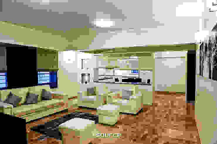 Chartered Jardin / Model Apartment Interiors de Source Architecture Moderno