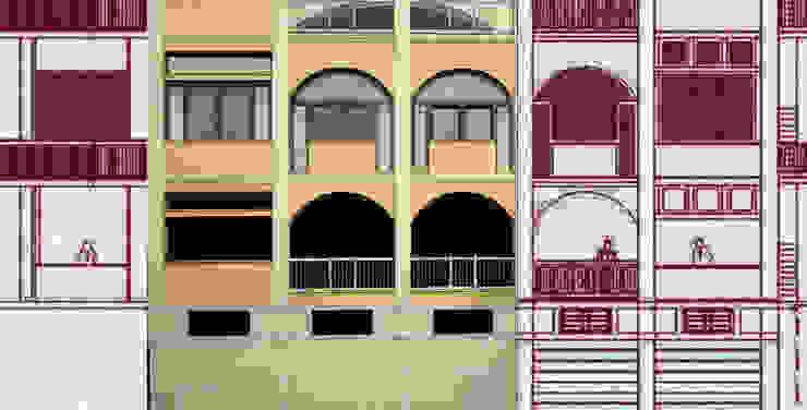 ADATTAMENTO VERTICALE Negozi & Locali commerciali moderni di GIOIA Biagio ARCHITETTO Moderno