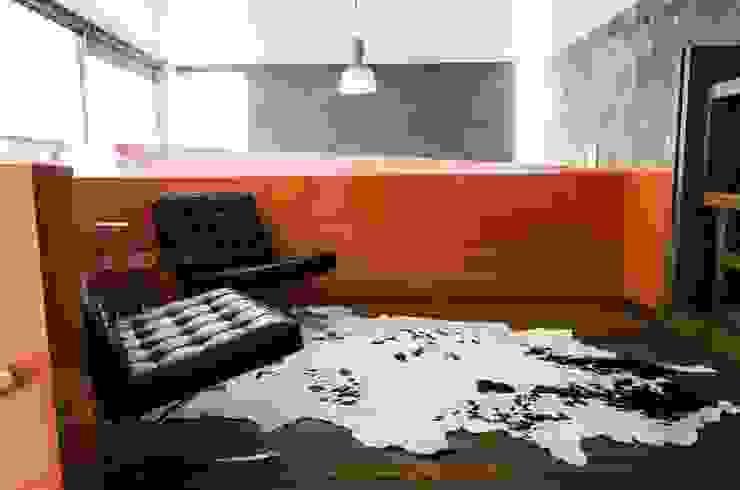 CASA C+G Salones modernos de PLASTIK ARQUITECTOS Moderno
