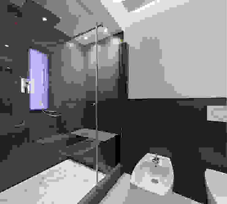 Projekty,  Łazienka zaprojektowane przez Arch. Andrea Pella, Nowoczesny