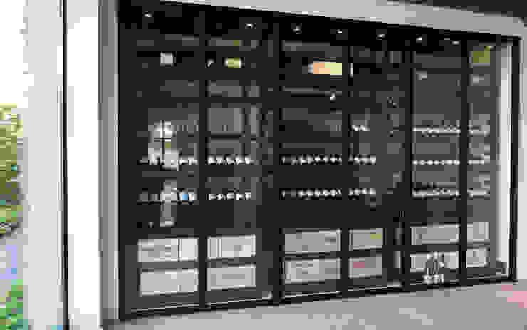Armoire à vin métallique - Bruges par Degré 12 Moderne Fer / Acier