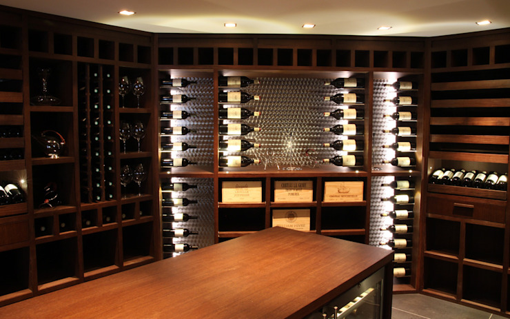 Wine cellar by Degré 12, Modern Wood Wood effect