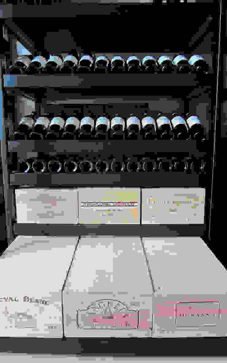 Armoire à vin métallique – Bruges par Degré 12 Moderne Fer / Acier