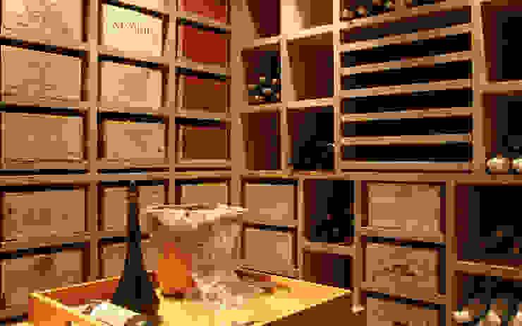 Cave à vin sur mesure en chêne – Knokke Cave à vin classique par Degré 12 Classique