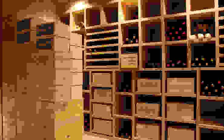 Cave à vin sur mesure en chêne - Knokke Cave à vin classique par Degré 12 Classique