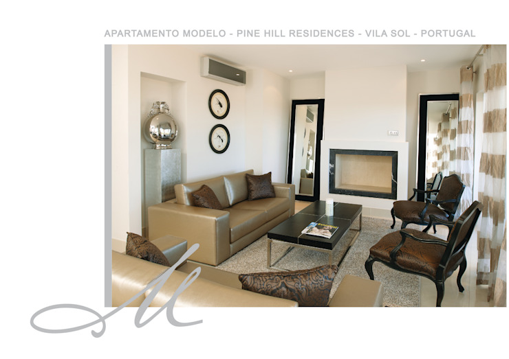Model Apartment - Pine Hill Residences Espaços por Maria Raposo Interior Design