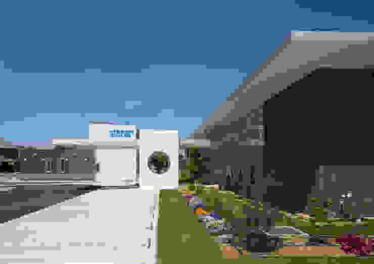 建物を彩る植栽 モダンな病院 の 株式会社古田建築設計事務所 モダン