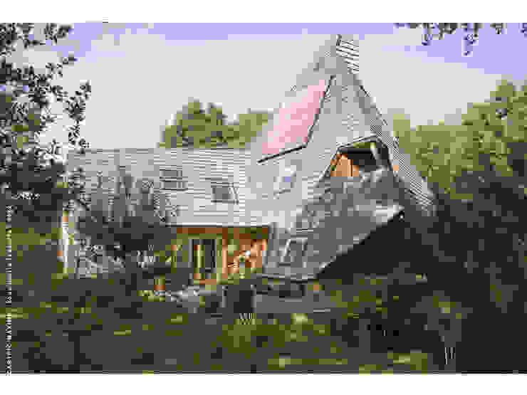 vue Est Maisons par Jean-Charles CASTRIC - architecte D.P.L.G.