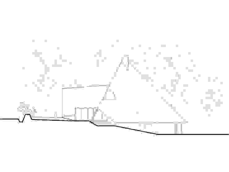 élévation Est Maisons par Jean-Charles CASTRIC - architecte D.P.L.G.