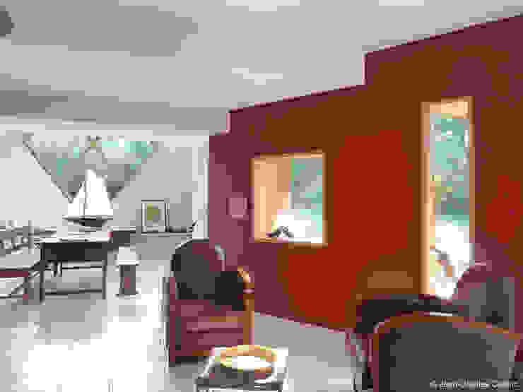 liaison existant-extension Maisons par Jean-Charles CASTRIC - architecte D.P.L.G.