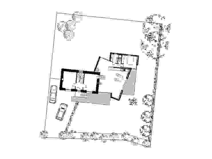 plan du rez-de-chaussée Maisons par Jean-Charles CASTRIC - architecte D.P.L.G.