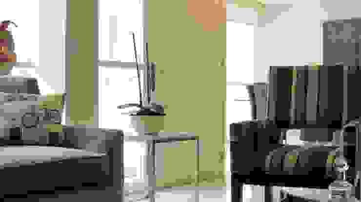 PALMAS 10 Salones modernos de NIVEL TRES ARQUITECTURA Moderno