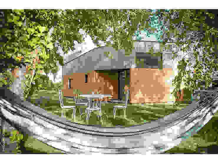vue Nord-Ouest Maisons par Jean-Charles CASTRIC - architecte D.P.L.G.