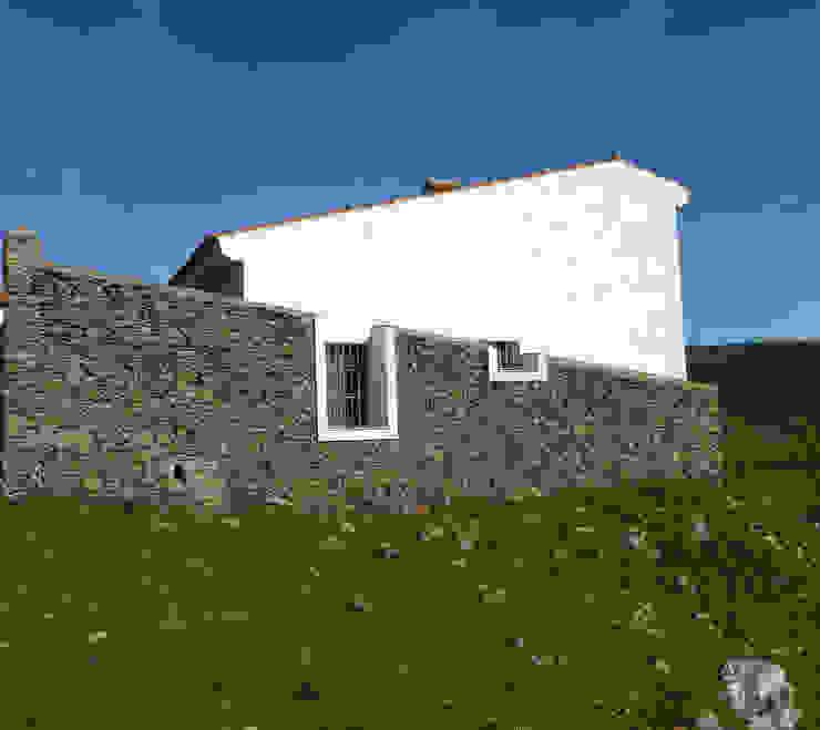 Fachada Sur Casas de Angar Arquitectos