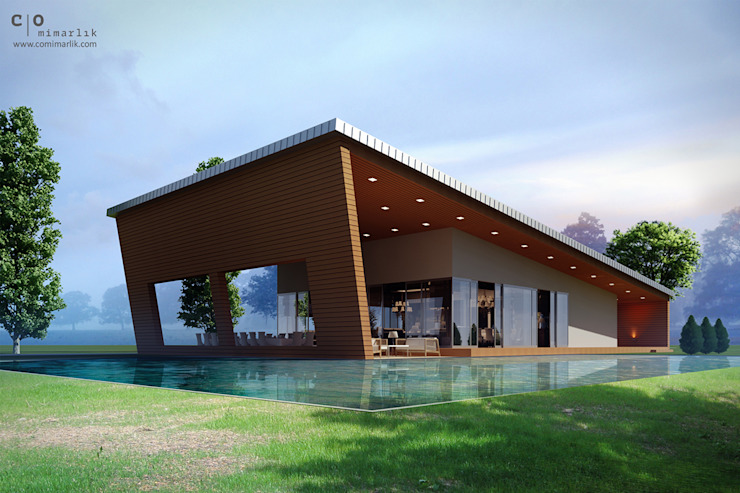 บ้านและที่อยู่อาศัย by CO Mimarlık Dekorasyon İnşaat ve Dış Tic. Ltd. Şti.