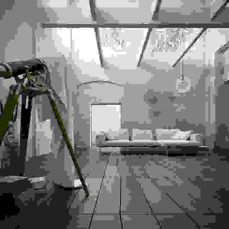 Telescope Room:  in stile industriale di ENGRAM STUDIO - Virtual Sets portfolio, Industrial