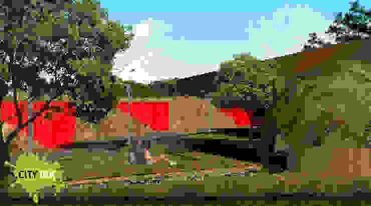 Domo sustentable vista exterior Jardines industriales de City Ink Design Industrial