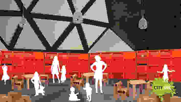 Interior del domo Jardines de invierno industriales de City Ink Design Industrial