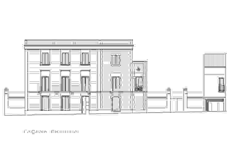 Alzado fachada calle de BARCELONA ARQUITECTURA Clásico