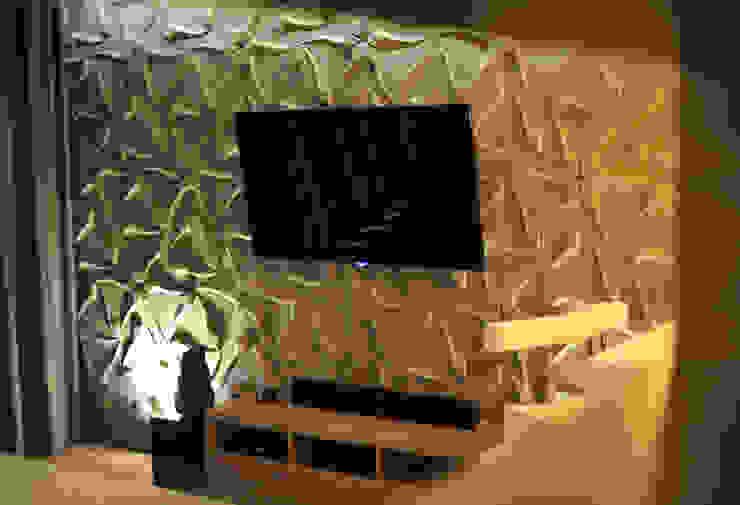 Salones de estilo moderno de k.halemska Moderno