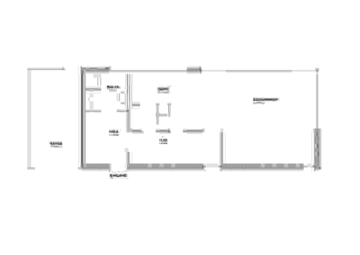 GRUNDRISS EG von Architekturbüro Chylek Minimalistisch