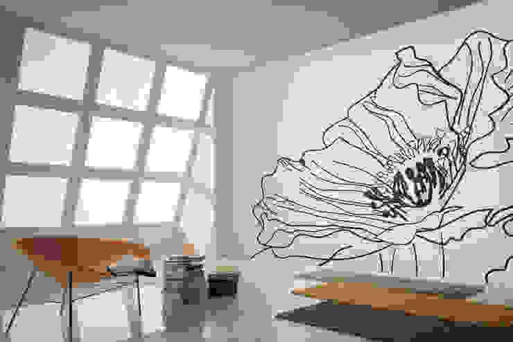 뮤럴벽지_L01031_POPPY: U2의  벽 & 바닥