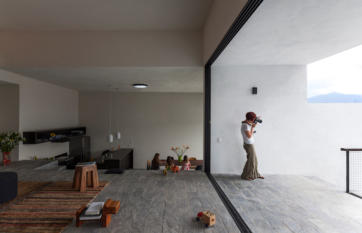 Projekty,  Salon zaprojektowane przez Dellekamp Arquitectos, Nowoczesny